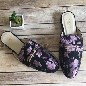 🌸 Cherry Blossom Brocade Low Mule Loafer